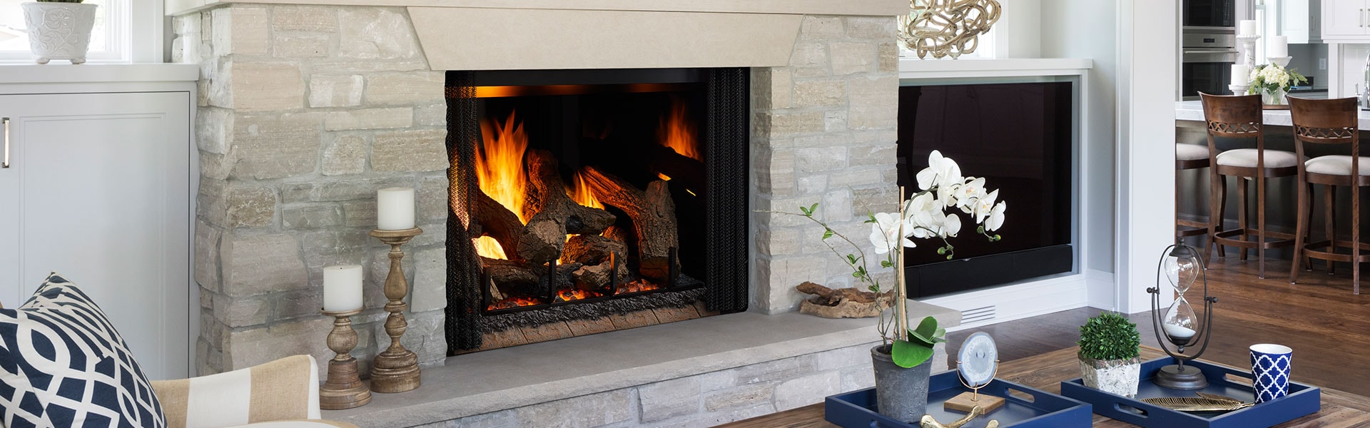 <p>Phoenix TrueView Gas Fireplace</p>