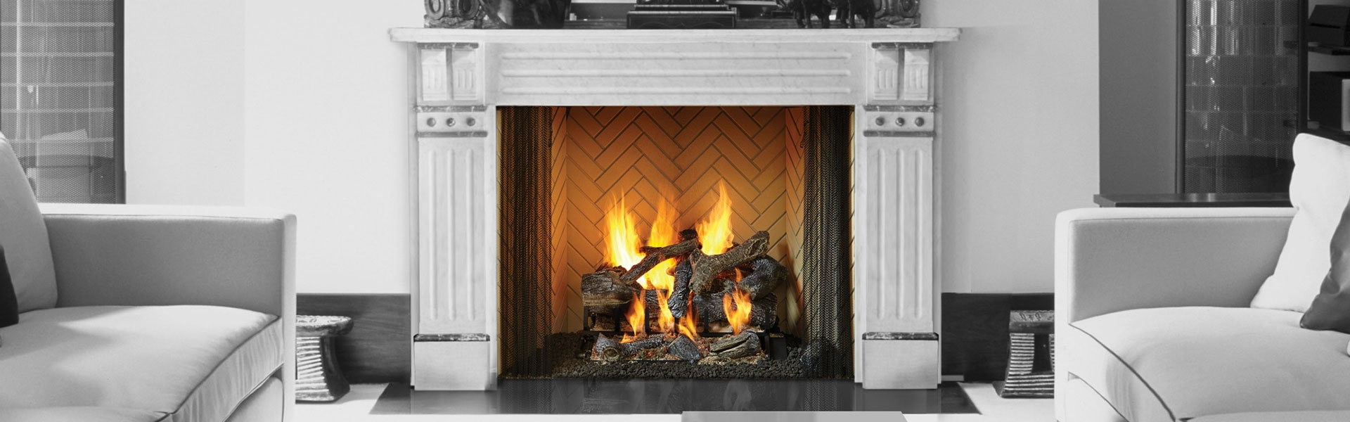 <p>Rutherford Wood Fireplace</p>